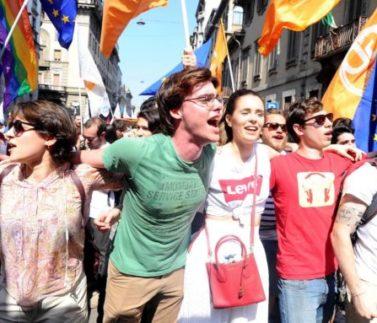 Corteo del 25 aprile - Festa della Liberazione - (Maurizio Maule/Fotogramma, Milano - 2018-04-25) p.s. la foto e' utilizzabile nel rispetto del contesto in cui e' stata scattata, e senza intento diffamatorio del decoro delle persone rappresentate